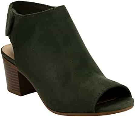 9edc9c88a0f6d Cityclassified IB69 Women s Stacked Block Heel Cutout Ankle Strap Bootie