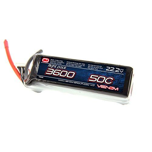 Venom 50C 6S 3600mAh 22.2V LiPO Battery