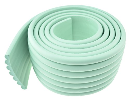 FiveSeasonStuff Mint Green All Season Premium Multi-Purpose Foam Bumper Guard Protector Set for Securing Round, Flat and Many Shapes of Surfaces Baby Toddler Proofing | 1 Roll (6.5 Feet x 2.60 Feet ) Wall Foam Roll