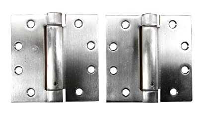 Commercial Spring Hinge   4.5u0026quot; Inches   Stainless Steel   Highly Rust  Resistant   2