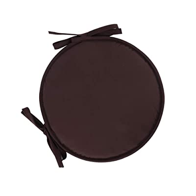Seat Cushion Round, not-Slip Thickened Chair Pads with Ties for Home Bar Stool Dining Chair Cushion 2pcs-Brown Diameter30cm(12inch): Home & Kitchen
