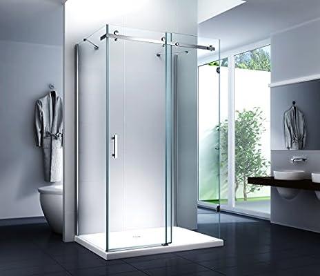 Cabina de ducha puerta corredera – Correderas Sistema ducha Forma de U Dilara 120 x 80 x 195 cm/8 mm/con ducha Taza y sifón: Amazon.es: Bricolaje y herramientas