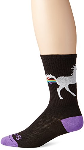SockGuy Men's Unicorn Express Socks, Black, L-XL/9-13 Men (Best Mountain Bike For Big Guys)
