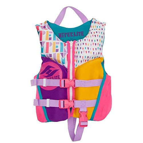 Child Neoprene Vest (Hyperlite Girls Child Life Vest Toddler (30-50Lbs))