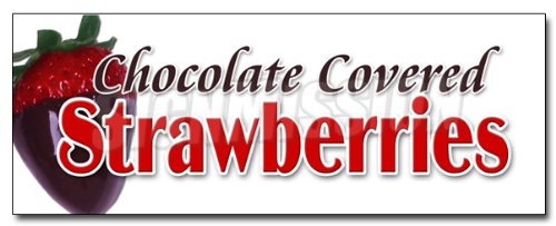 D STRAWBERRIES DECAL sticker candy dipped chocolatier sweet ()