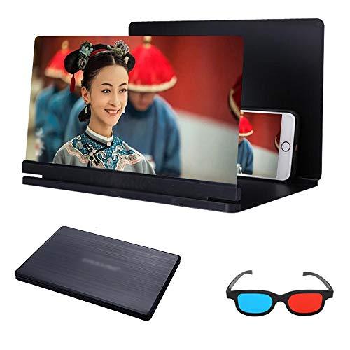 AMYHY 18in Phone Screen Magnifier, Projector Verstärker 3D HD Film Video-Standplatz kompatibel mit Allen Smartphone