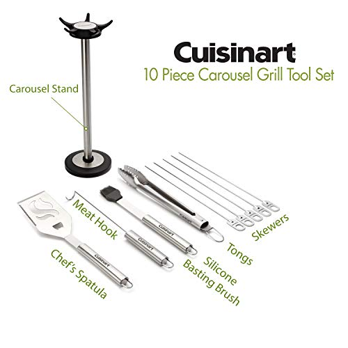 Cuisinart CGS-6010 Carousel Stainless Steel Grill Tool Set, 10-Piece