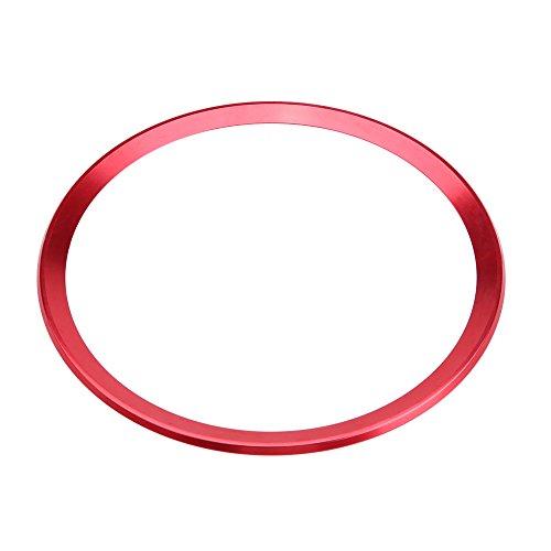 Interior Steering Wheel Ring Cover Trim Aluminum Alloy Car Steering Wheel Ring Cover Trim for Audi A1 A3 A4 A5 A6 Q3 Q5 (Red) ()