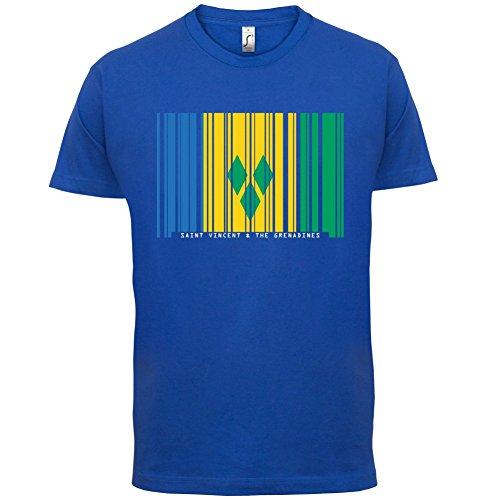 Saint Vincent and the Grenadines / St. Vincent und die Grenadinen Barcode Flagge - Herren T-Shirt - Royalblau - L