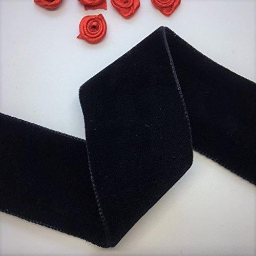 - Double Face Nylvalour Swiss Velvet Nylon Ribbon, 1.5