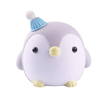Penguin Piggy Bank Cute Resin Coin Bank Storage Cartoon Animal Money Bank Gift for Girls Kids Home Decorations (Gray): Home & Kitchen