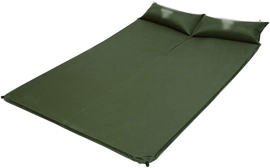 190×130×2.5センチ二重寝台マットマットレス自己膨張パッド付き2インフレータブル枕用キャンプテントビーチ