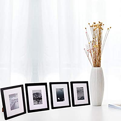 Egofine 8x10 Picture Frames 4 PCS - Made of Solid Wood High Definition Glass for Table Top Display and Wall mounting Photo Frame