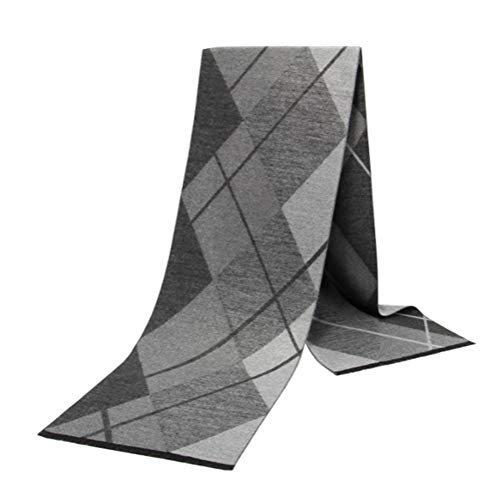 Mens Cashmere Super Soft Scarf Classic Plaid,Long Pashmina Luxurious Feel Warm Checked Scarves for Winter Business