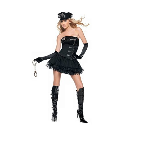 GGTBOUTIQUE Damen A-Linie Kleid schwarz schwarz