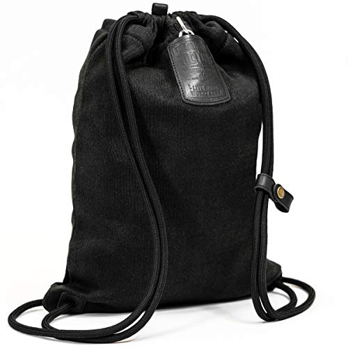 LOCTOTE Flak Sack II - The World's Toughest Theft-Resistant Drawstring Backpack (Stealth Black) (Cut The Rope Time Travel All Levels)