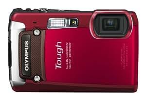 """Olympus Tough TG-820 - Cámara compacta de 12 Mp (pantalla de 3"""", zoom óptico 5x, estabilizador de imagen ) color rojo"""