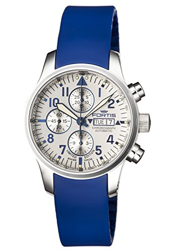 Fortis-Mens-7012092-SI05-F-43-FLIEGER-CHRONOGRAPH-Analog-Display-Automatic-Self-Wind-Blue-Watch