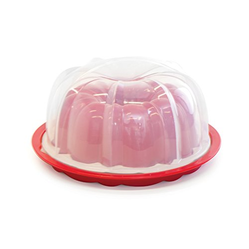 Nordic Ware Bundt Pan with Translucent Cake Keeper, (Formed Bundt Pan)