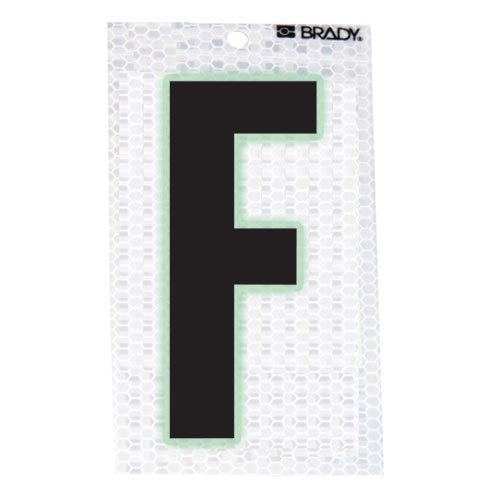 Brady 3020-F, 105587 Glow-In-The-Dark/Ultra Reflective Letter - F, 15 Packs of 10 pcs by Brady (Image #1)