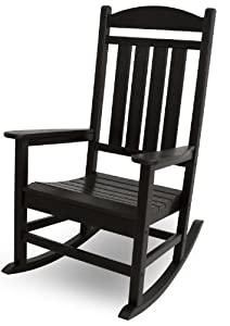 3. POLYWOOD R100BL Presidential Outdoor Rocking Chair
