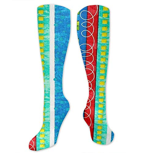 CGHVS Bug's Life Funky Stripe Compression Socks Compression Stockings for Woman Graduated Compression Sock Knee High