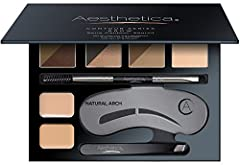 Get the beautiful brows you have always wanted with the Aesthetica Cosmetics Brow Contour kit. This amazing kit is like your own personal and portable brow bar that includes everything you need to define, fill and shape your brows, in one tra...