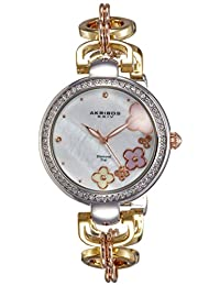 Akribos XXIV Women's AK874TRI Analog Display Quartz Two Tone Watch