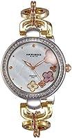 Akribos XXIV women's mother of pearl diamond dial tri-tone stainless steel watch - AK874TRI