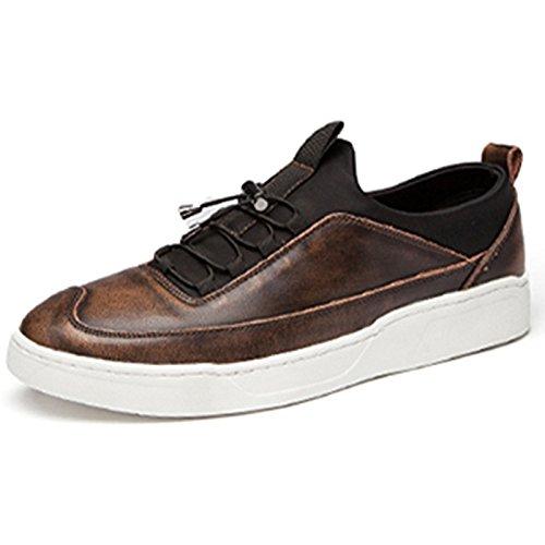 YIXINY Deporte Zapato B02 Primavera Y Otoño La Moda De Estilo Británico De Peso Ligero Transpirable Zapatos Casuales Al Aire Libre Calzado De Hombre ( Color : Ancient copper , Tamaño : EU42/UK8.5/CN43 ) EU42/UK8.5/CN43|Ancient copper