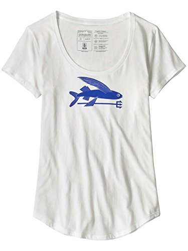 漏斗明るくする賄賂patagonia(パタゴニア) ウィメンズ?フライング?フィッシュ?オーガニック?スクープ?Tシャツ Ws Flying Fish Organic Scoop T-Shirt