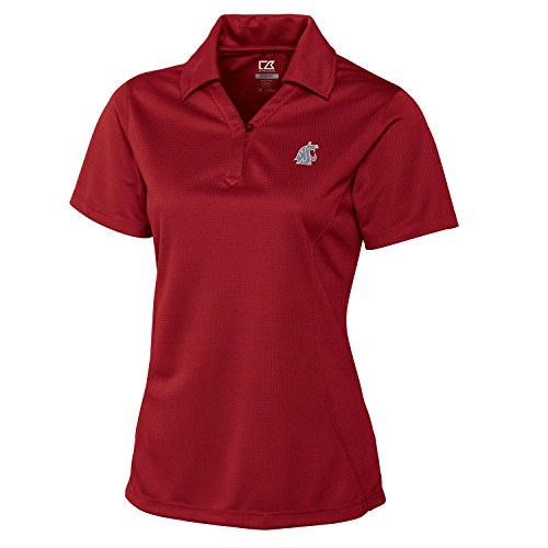 Cutter & Buck NCAA Washington State Cougars Women's CB Dry Tec Genre Polo, Large, Cardinal Red