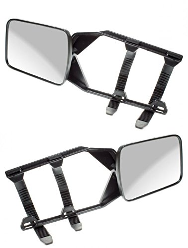 Mitsubishi Outlander Caravan Trailer Extension Towing Wing Mirror Glass 1 Pair