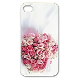 New Fashion Hard Back Cover Case for iPhone 4,4S with New Printed Happy flowers