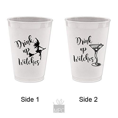 Halloween Frost Flex Plastic Cups - Drink Up Witches Martini (10 cups)