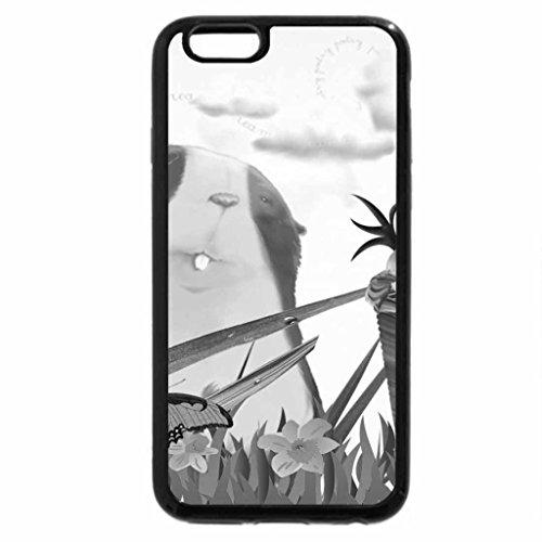 iPhone 6S Plus Case, iPhone 6 Plus Case (Black & White) - Little Hamster