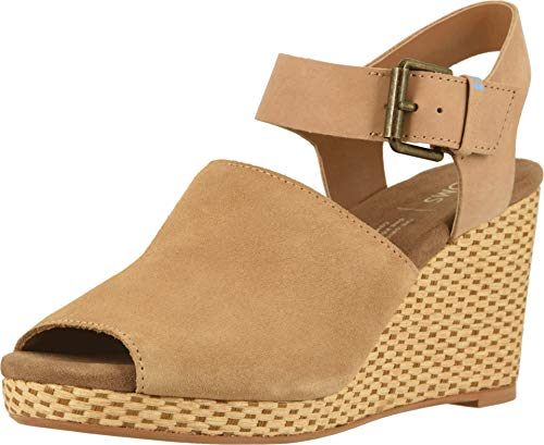 TOMS Women's Tropez Honey Suede/Leather 10 B US