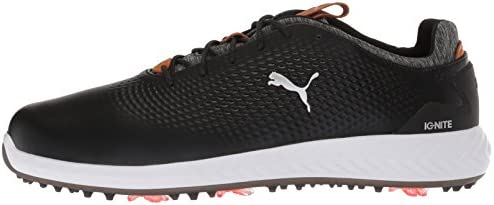 PUMA Golf Men's Ignite Pwradapt Leather Golf Shoe, Black, 7