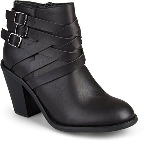 Pictures of Brinley Co Women's Buckle Ankle Boot US 1