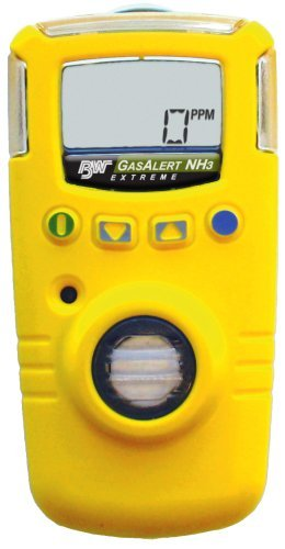 BW Technologies GAXT-A-DL GasAlert Extreme Ammonia (NH3) Single Gas Detector, 0-100 ppm Measuring Range, Yellow by BW Technologies