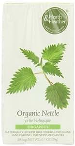 Heath & Heather - 20 Bolsas de Té de Infusión de Hierbas de Ortiga Orgánica (Paquete de 6, 120 Bolsas de Té en Total)