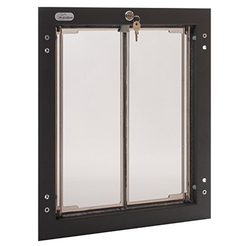PlexiDor Performance Pet Doors Wall Mounted in Bronze