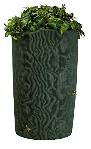 Urn Rain (Good Ideas IMP-C90-GRN Impressions Tree Bark Rain Barrel, 90-Gallon, Green)