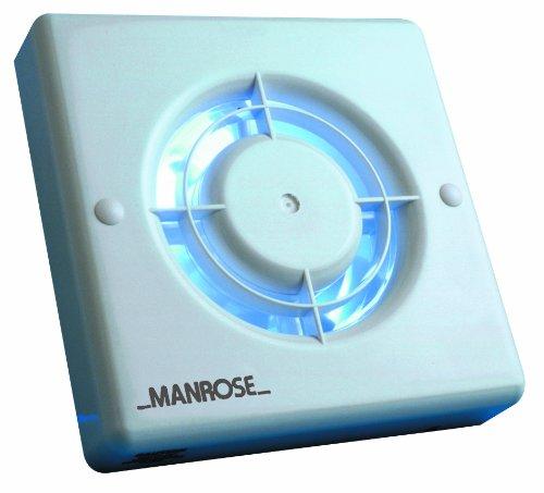 """46 opinioni per Manrose XF100T- Aspiratore da interni con timer, 100mm (4"""")"""