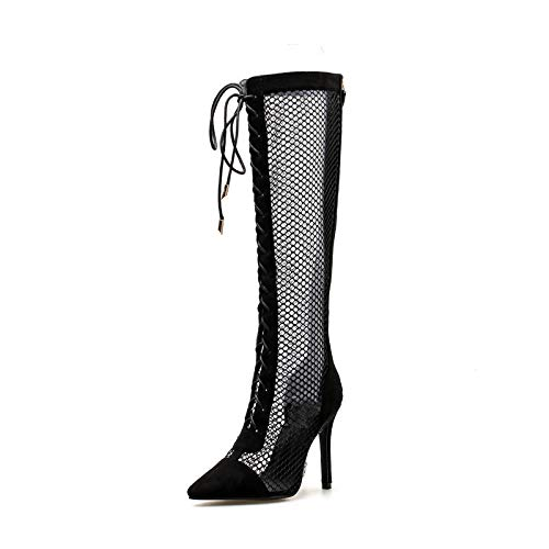 Black cloth Forty High boots and cool heels Axn5wZq08g