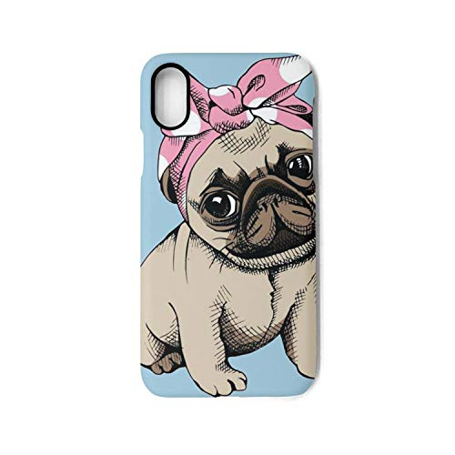 Iphone X Case pug headband puppies funny angel party Cool TPU Cover Case
