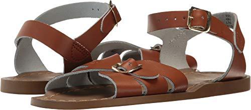 Salt Water Sandals by Hoy Shoe Girls' Salt Water Classic Flat Sandal, tan, 6 W8 M US Big Kid