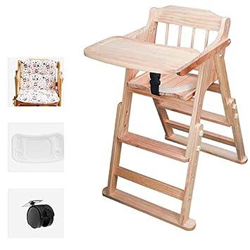 Amazon.com: Cómodo hogar silla alta de madera, silla de ...