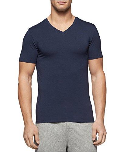 Michael Kors Men's Luxury Modal V-Neck Undershirt (Dark Navy, - Sale Michael Men Kors