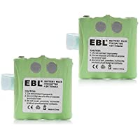 EBL Pack of 2 Midland BATT8R / MOTOROLA KEBT-072 4.8V 700MAH Two-Way Radio Battery for Motorola SX700R / FV700R / M370H1A (Batteries Combo)